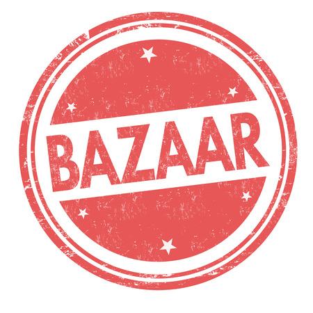Basarzeichen oder Stempel auf weißem Hintergrund, Vektorillustration