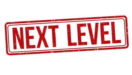 Next level sign or stamp on white background, vector illustration Ilustração Vetorial