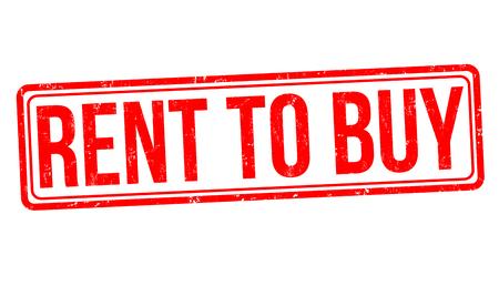 Rent to buy sign or stamp on white background, vector illustration Illustration