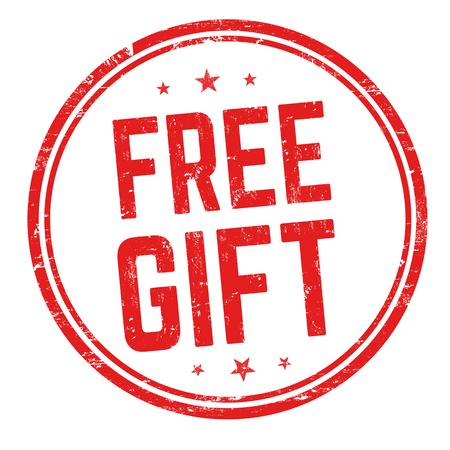 Free gift sign or stamp on white background, vector illustration