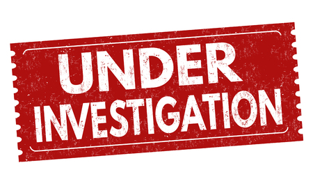 Under investigation sign or stamp on white background, vector illustration Çizim