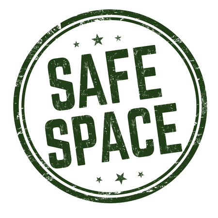 Safe space sign or stamp on white background, vector illustration Çizim
