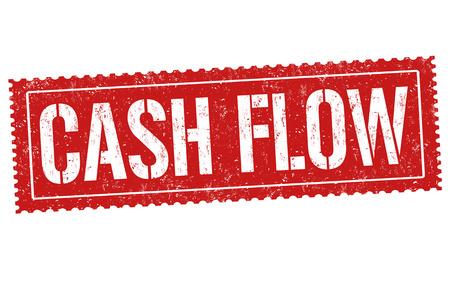 Cash flow sign or stamp on white background, vector illustration