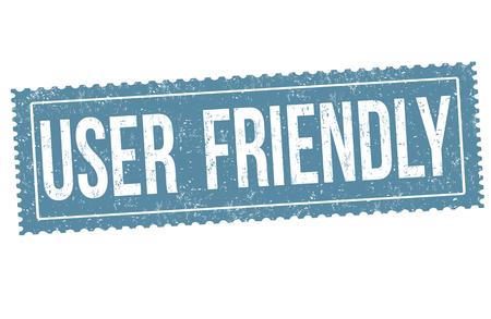 User friendly sign or stamp on white background, vector illustration Vector Illustratie