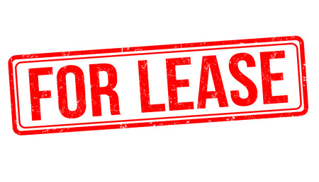 For lease sign or stamp on white background, vector illustration