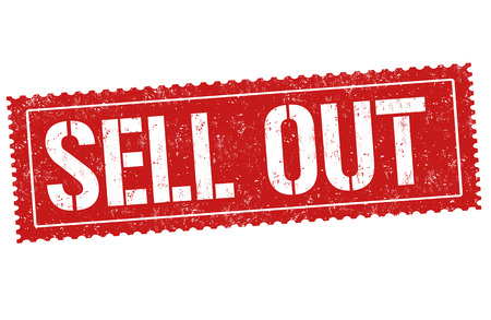 Sell out sign or stamp on white background, vector illustration