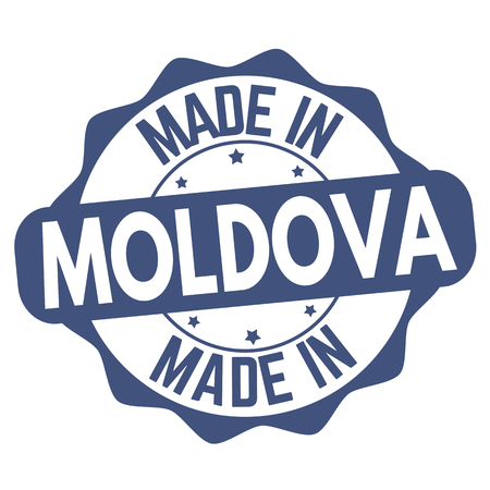 Made in Moldova sign or stamp on white background, vector illustration