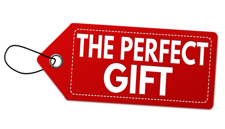 The perfect gift label or price tag on white background, vector illustration Çizim