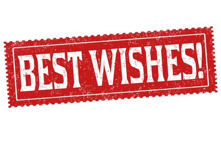Best wishes sign or stamp on white background, vector illustration