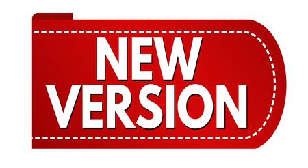 New version banner design on white background, vector illustration Çizim