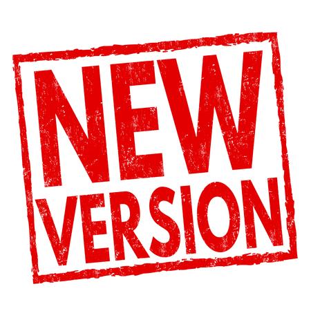 New version sign or stamp on white background, vector illustration
