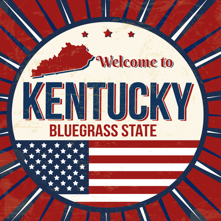 Welcome to Kentucky vintage grunge poster, vector illustrator