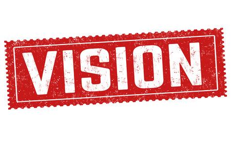 Vision sign or stamp on white background, vector illustration