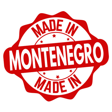 Made in Montenegro sign or stamp on white background, vector illustration