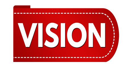 Vision banner design on white background, vector illustration
