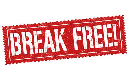 Break free sign or stamp on white background, vector illustration Çizim