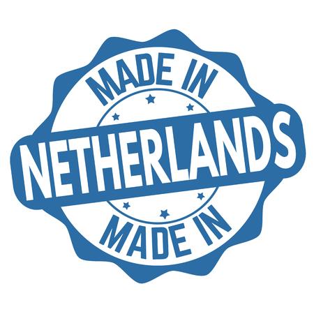 Made in Netherlands sign or stamp on white background, vector illustration