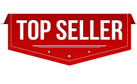 Top seller banner design on white background, vector illustration