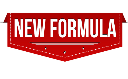 New formula banner design on white background, vector illustration
