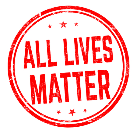 All lives matter sign or stamp on white background, vector illustration Çizim