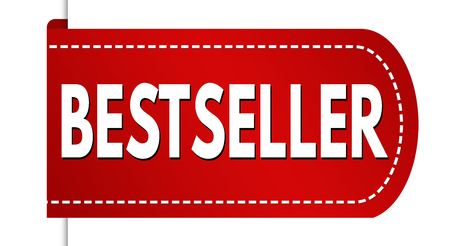 Bestseller banner design on white background, vector illustration