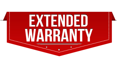 Extended warranty banner design on white background, vector illustration