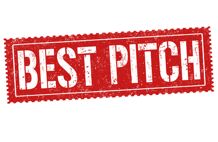 Best pitch sign or stamp on white background, vector illustration
