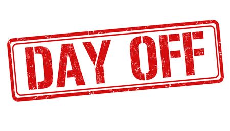 Signo de día libre o sello sobre fondo blanco, ilustración vectorial