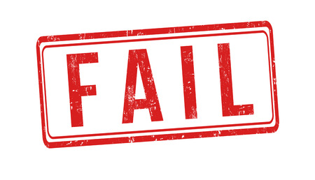 Fail sign or stamp on white background, vector illustration