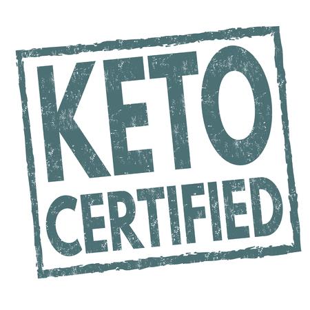 Keto certified sign or stamp on white background, vector illustration Illustration