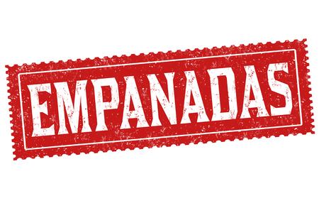 Empanadas sign or stamp on white background, vector illustration