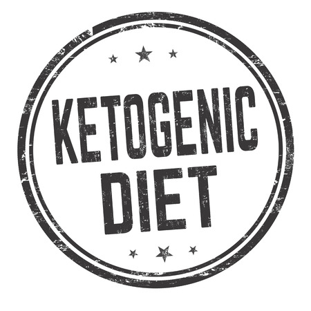 Ketogenic diet sign or stamp on white background, vector illustration