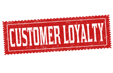 Customer loyalty sign or stamp on white background, vector illustration