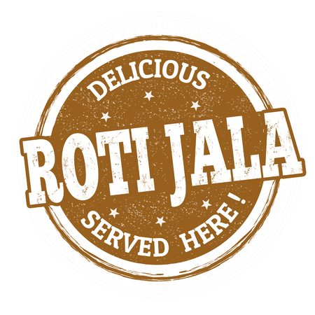 Roti jala sign or stamp on white background, vector illustration