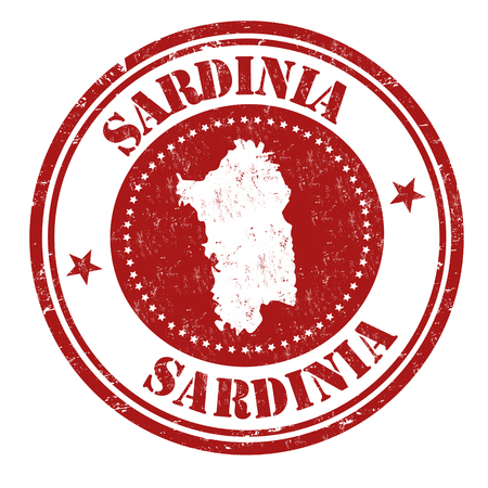 Sardinia sign or stamp on white background, vector illustration
