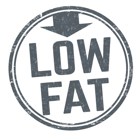 Low fat sign or stamp on white background, vector illustration  イラスト・ベクター素材