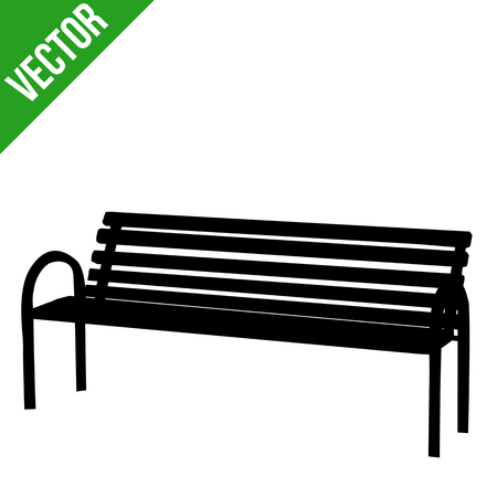 Bench silhouette on white background, vector illustration Ilustrace