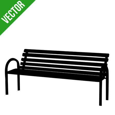 Bench silhouette on white background, vector illustration Reklamní fotografie - 124517707