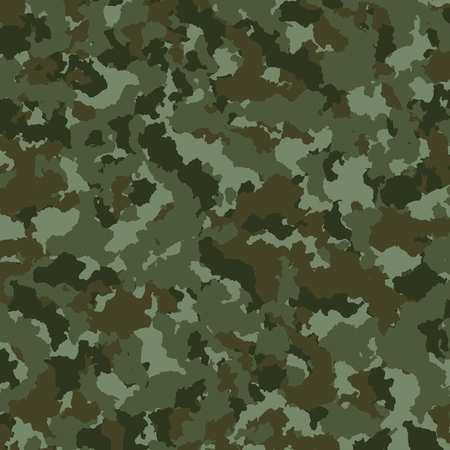 Military or hunting camouflage background texture, vector illustration Illustration