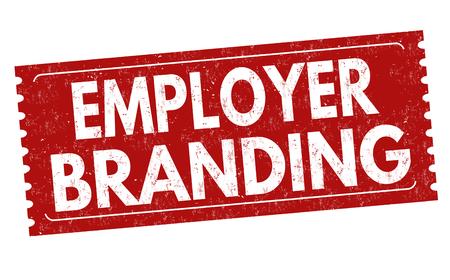 Arbeitgeber-Branding-Zeichen oder -Stempel auf weißem Hintergrund, Vektorillustration Vektorgrafik
