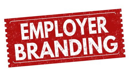 Employer branding sign or stamp on white background, vector illustration