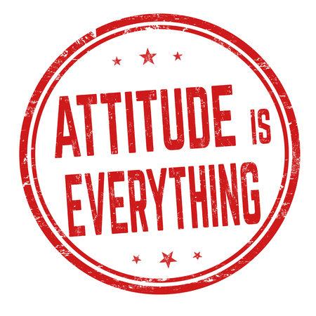 Attitude is everything sign or stamp on white background, vector illustration
