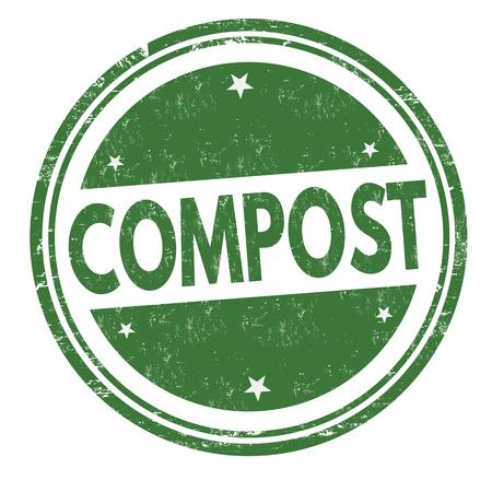 Compost sign or stamp on white background, vector illustration Vector Illustration