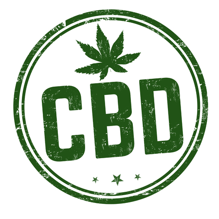 CBD ( Cannabidiol) sign or stamp on white background, vector illustration