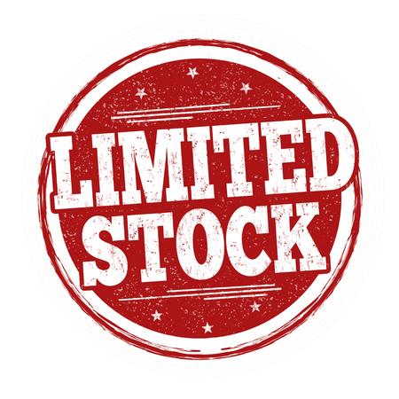 Limited stock sign or stamp on white background, vector illustration Vektoros illusztráció