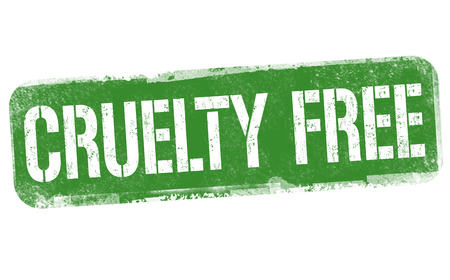 Cruelty free sign or stamp on white background, vector illustration