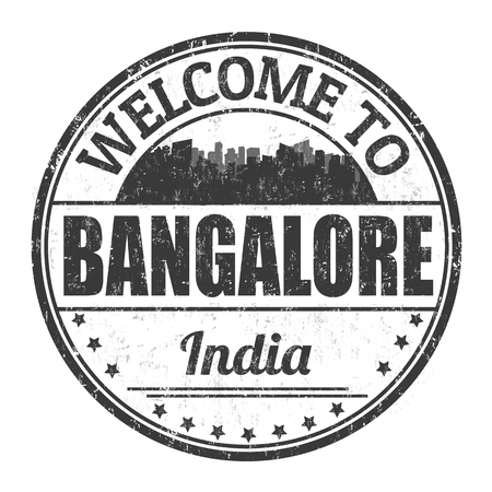 Welcome to Bangalore sign or stamp on white background, vector illustration 矢量图像