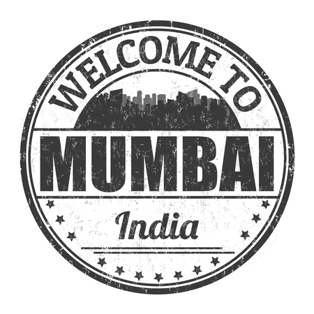 Welcome to Mumbai sign or stamp on white background, vector illustration