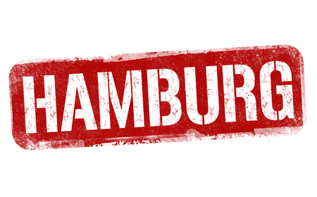 Hamburg sign or stamp on white background, vector illustration Çizim