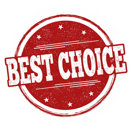 Best choice sign or stamp on white background, vector illustration